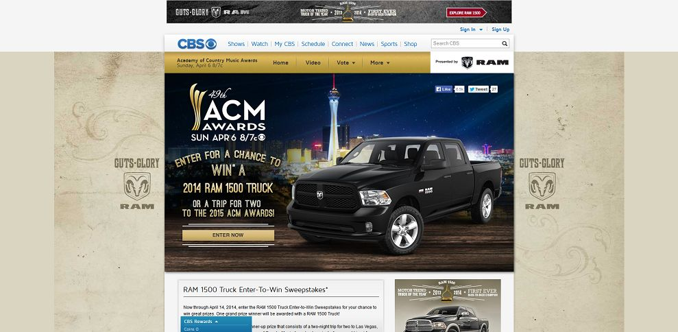 #5302-Academy of Country Music Awards - Ram Truck Sweepstakes - CBS_com-www_cbs_com_shows_academy_of_country_music_sweepstakes