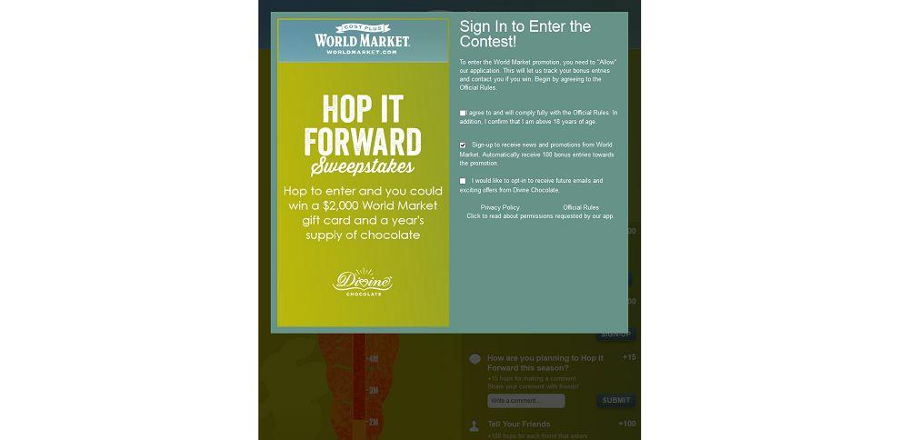 #5328-World Market's Hop It Forward Sweepstakes-www_worldmarketsweepstakes_com