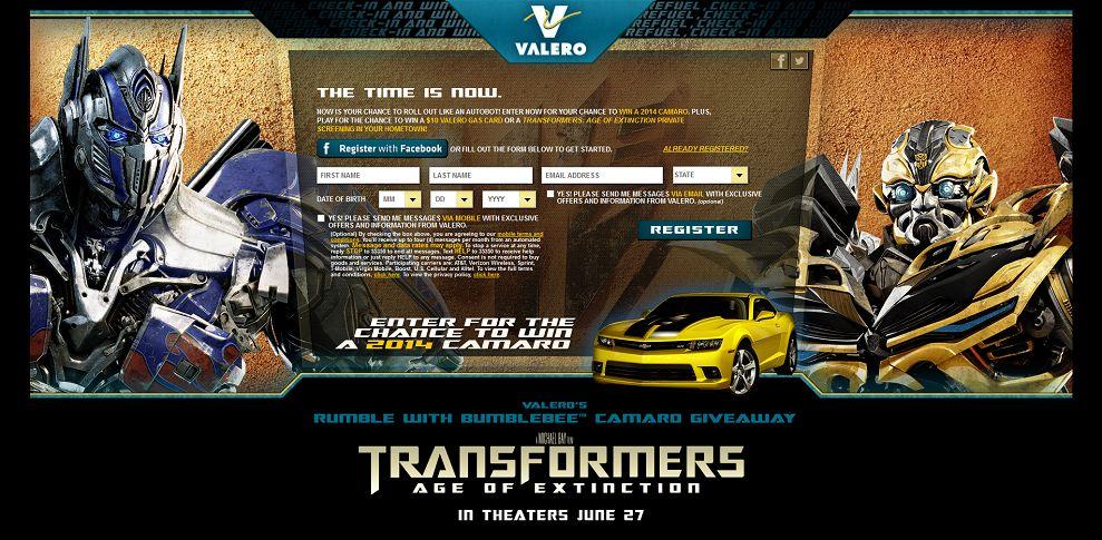 #5427-Valero's Rumble with Bumblebee™ Camaro Giveaway-valero_promo_eprize_com_transformers