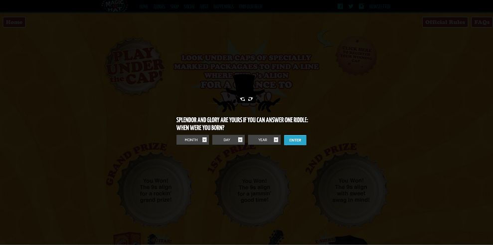 magichat.net/underthecap � Magic Hat #9 Under the Cap Sweepstakes