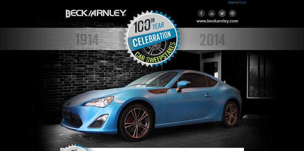 -100th Year Celebration Car Sweepstakes-www_beck100_com_en_register