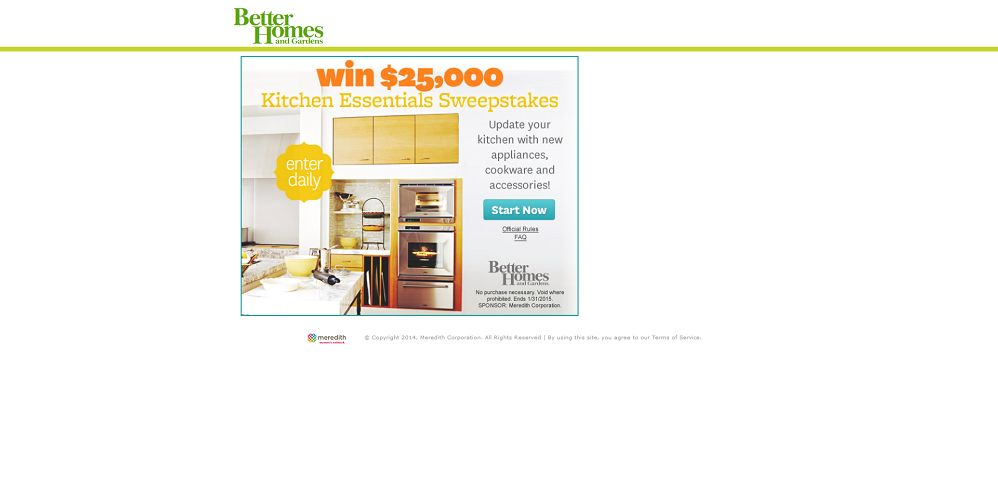 Better Homes Gardens 25 000 Sweepstakes Update Your Kitchen With 25 000
