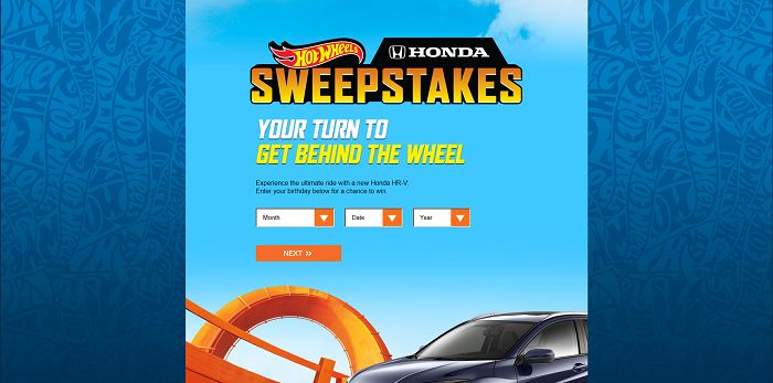 Hot Wheels Honda Kroger Sweepstakes at hotwheels.com/carsweeps