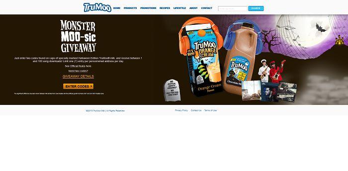 Trumoo.com/Halloween - TruMoo Halloween Sweepstakes