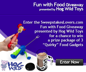 SweepstakesLovers.com Fun with Food Giveaway presented by Hog Wild Toys