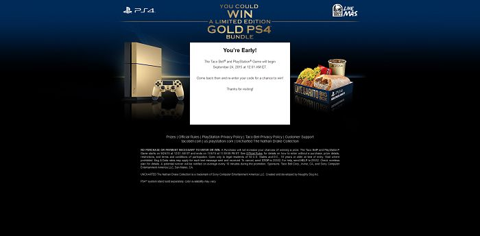 WinPS4Bundle.com - Taco Bell and PlayStation Game