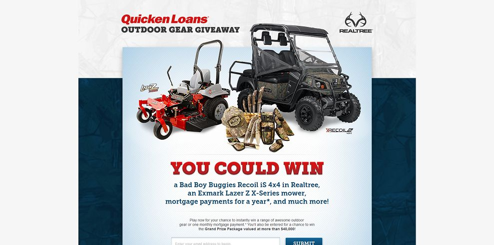 Quicken Loans Outdoor Gear Giveaway : Win a Grand Prize Package valued