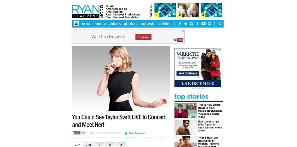 win a chance to meet taylor swift 2014 academy