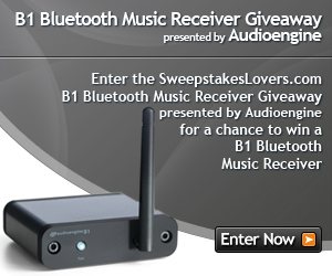 SweepstakesLovers.com B1 Bluetooth Music Receiver Giveaway presented by Audioengine