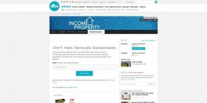 HGTV.com/Renovate - HGTV's Don't Hate, Renovate Sweepstakes