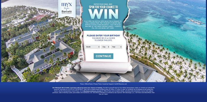 MYX Fusions Heat Up Your Winter Sweepstakes
