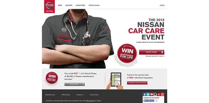 NissanUSA.com/CarCareEvent - Nissan Car Care Event Sweepstakes