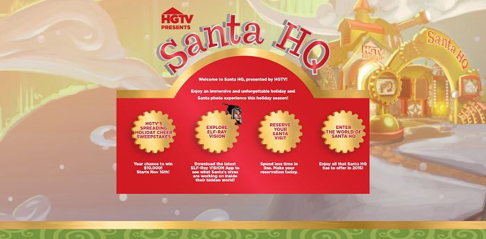 HGTV's Spreading Holiday Cheer Sweepstakes (Santa-HQ.com/Win)