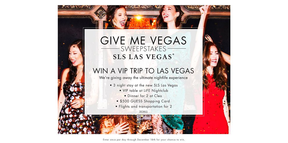 GUESS Give Me Vegas Sweepstakes