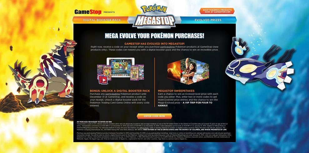 Pokémon MegaStop Sweepstakes (pokemonmegastop.com)