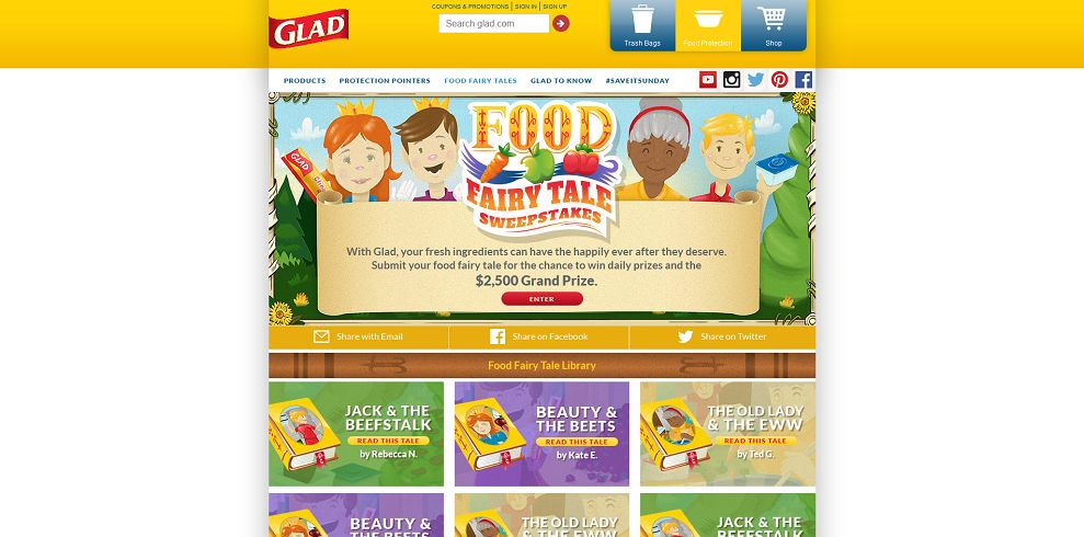Glad Food Fairy Tale Sweepstakes