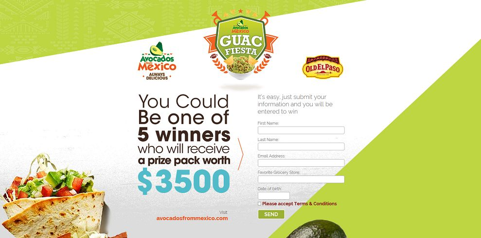 Avocados From Mexico Ultimate Guacamole Taco Fiesta Sweepstakes