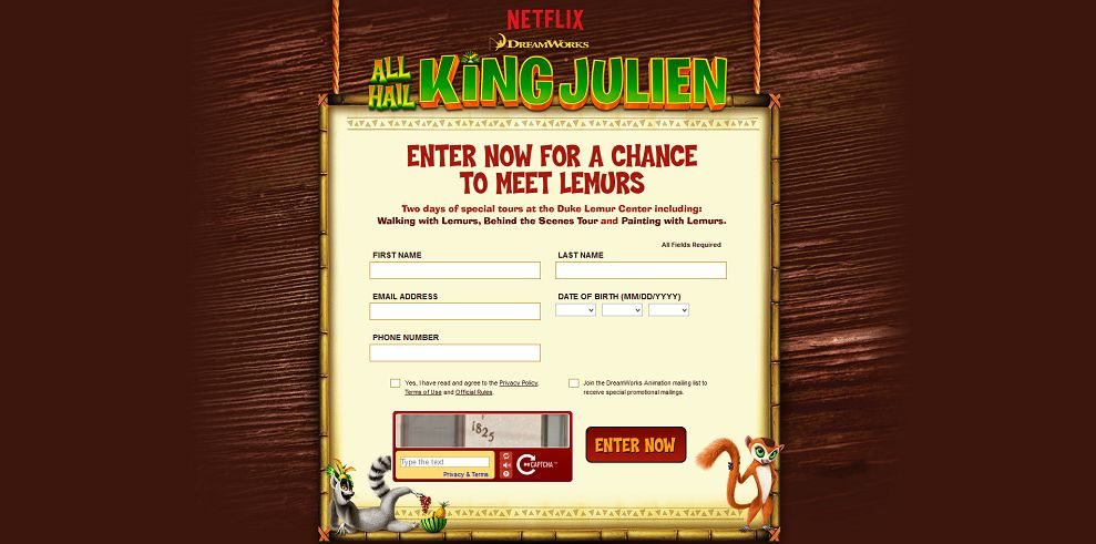 All Hail King Julien Sweepstakes
