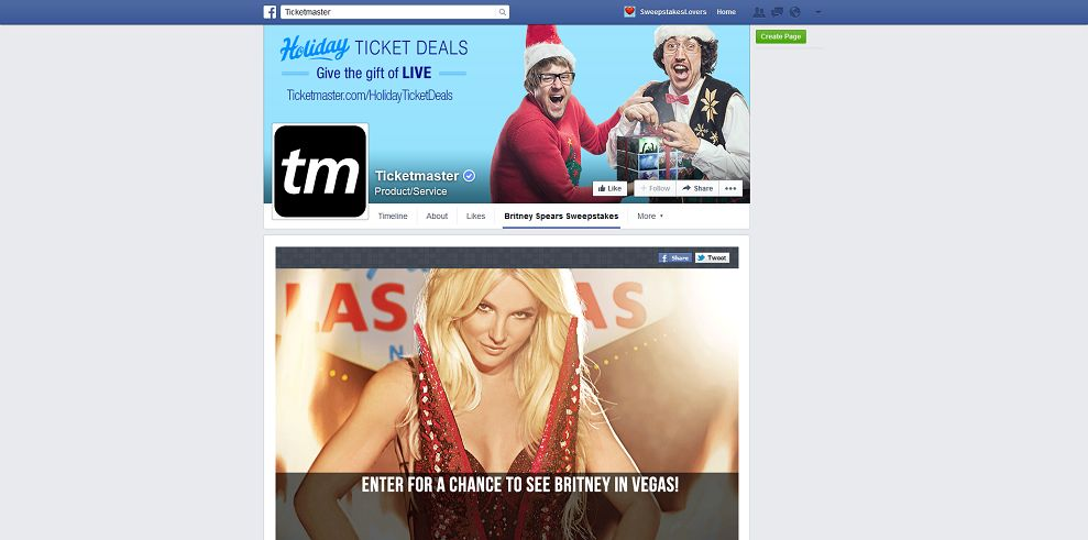 Ticketmaster Britney Spears Piece Of Me In VEGAS Sweepstakes