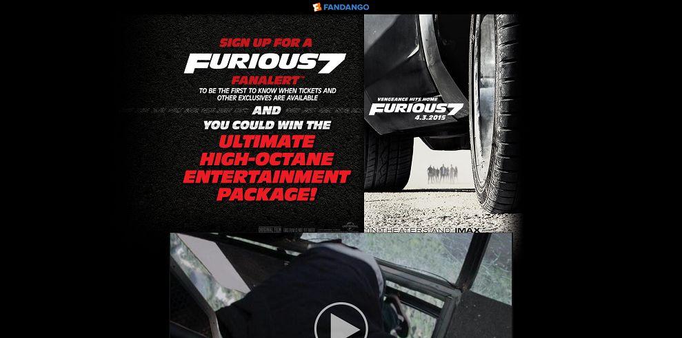 Fandango Furious 7 Sweepstakes