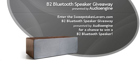 Audioengine B2 Bluetooth Speaker Giveaway