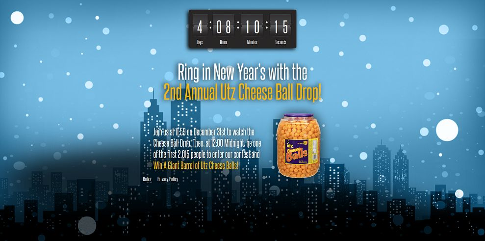 Utz Cheese Ball Drop Promotion (utzcheeseballdrop.com)
