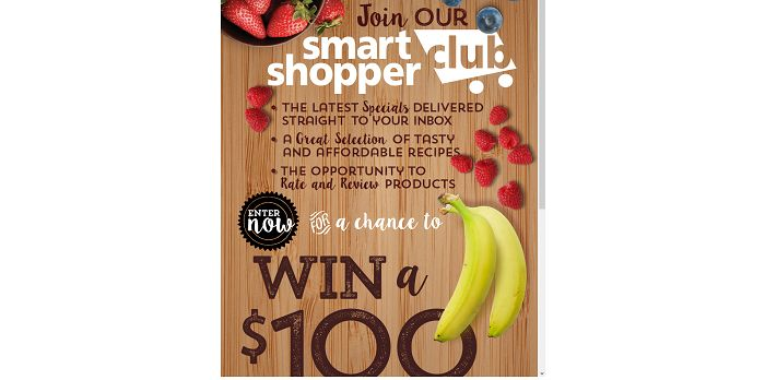 Save-A-Lot Smart Shopper Club Online Sweepstakes (Save-A-Lot.com/SmartShopper)