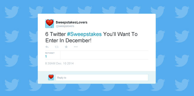 6 Twitter Sweepstakes You'll Want To Enter In December