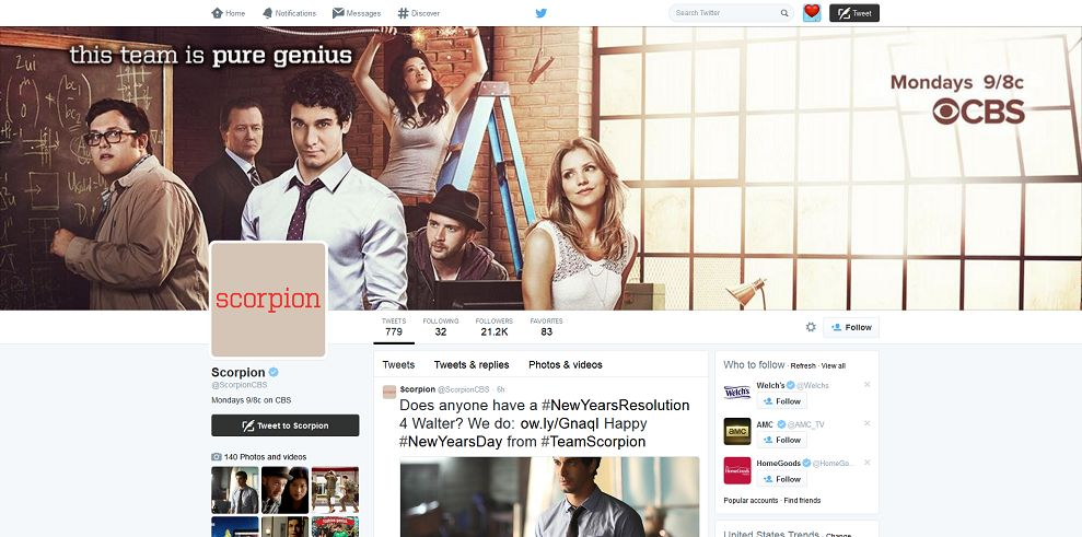 CBS #TeamScorpion Tweet and Win Sweepstakes