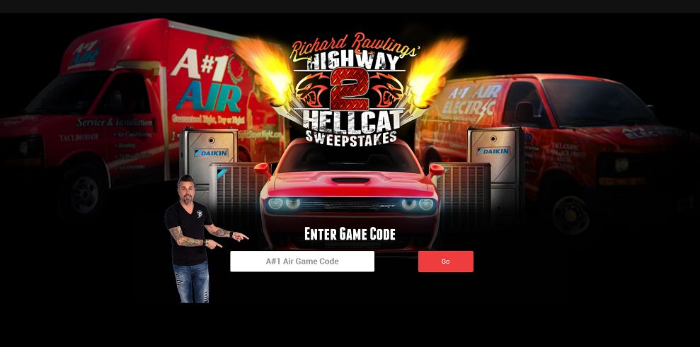 Richard Rawlings Highway 2 Hellcat Sweepstakes (anumber1air.com/game)