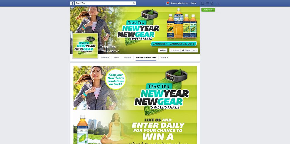 Teas Tea New Year, New Gear Sweepstakes (teasteanewyear.com)