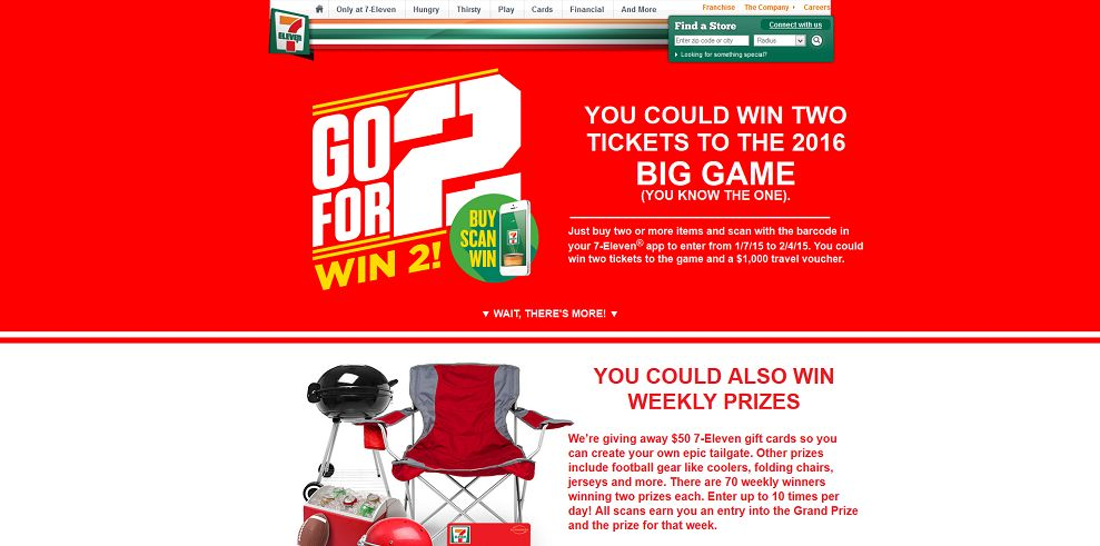 7-Eleven Buy. Scan. Win! Sweepstakes