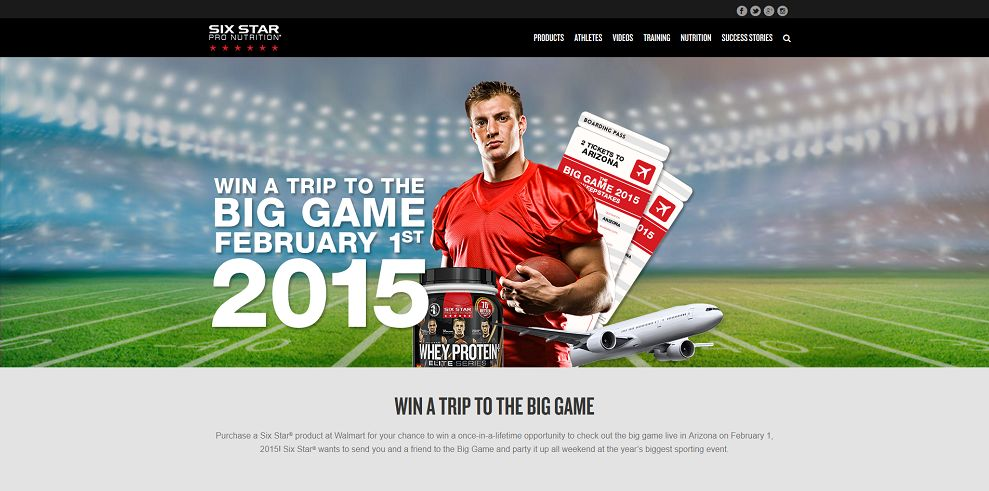 Six Star Big Game 2015 Sweepstakes