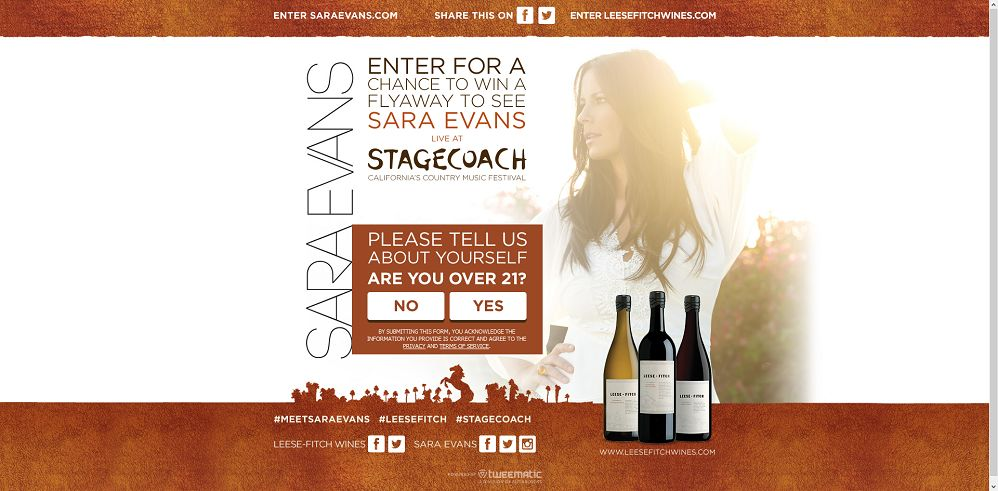 Sara Evans Stage Coach Sweepstakes