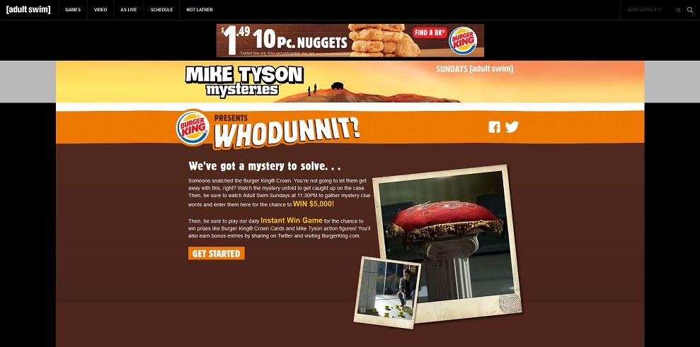 Burger King presents Whodunnit Sweepstakes