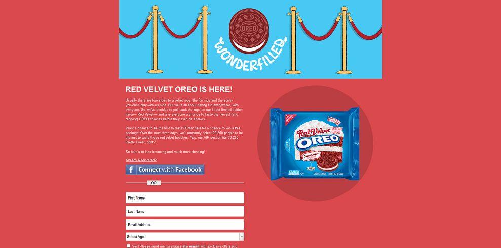 OREO Red Velvet Rope Sweepstakes - OreoRedVelvetRope.com