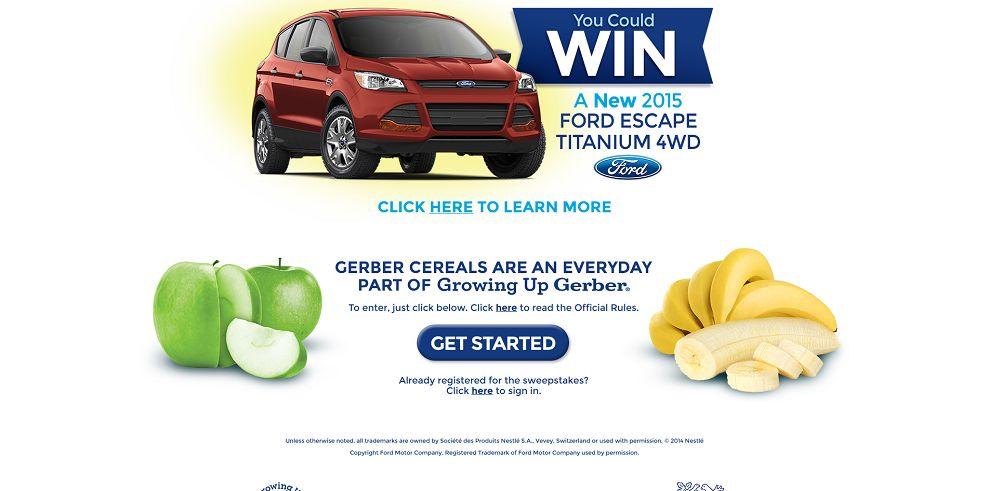Gerber Cereal 1-2-3 Sweepstakes - Gerber.com/Cereal123