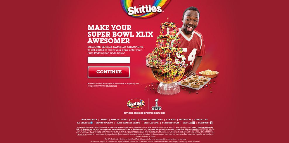 Make Your Super Bowl XLIX Awesomer Sweepstakes