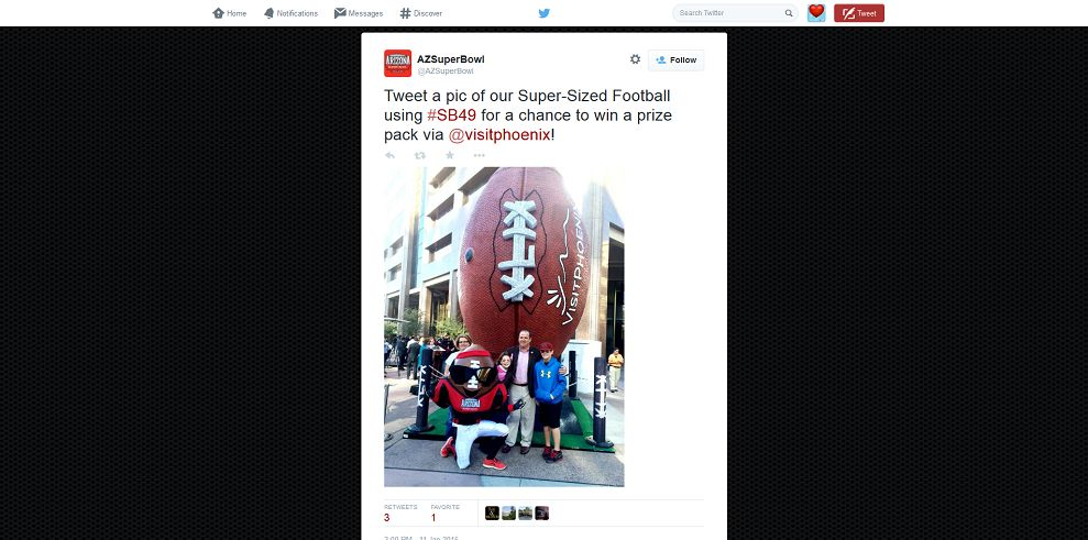 Super-Sized Football Photo Sweepstakes