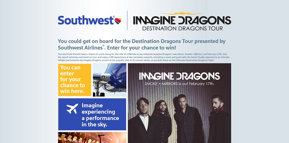 Destination Dragons Sweepstakes Presented By Southwest Airlines