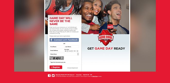 Coke Home Bowl Sweepstakes
