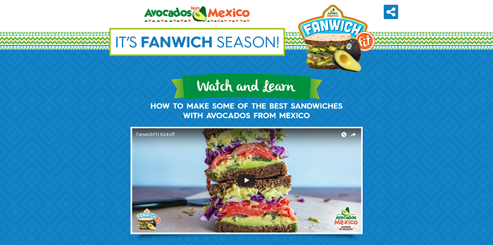 Fanwich.com - Avocados From Mexico Fanwich Sweepstakes
