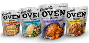 new campbell's oven sauces