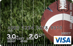 visa gift card football