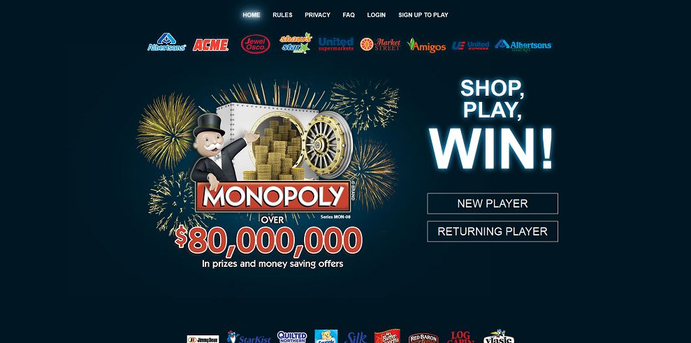 monopoly shop play and win