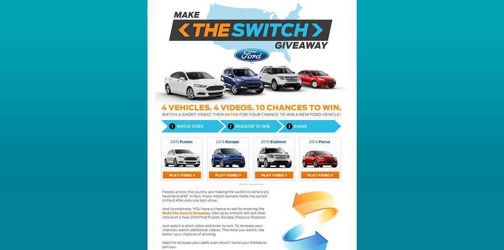 2015 Ford Make the Switch Giveaway