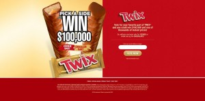 TWIX Pick A Side Instant Win Game and Sweepstakes