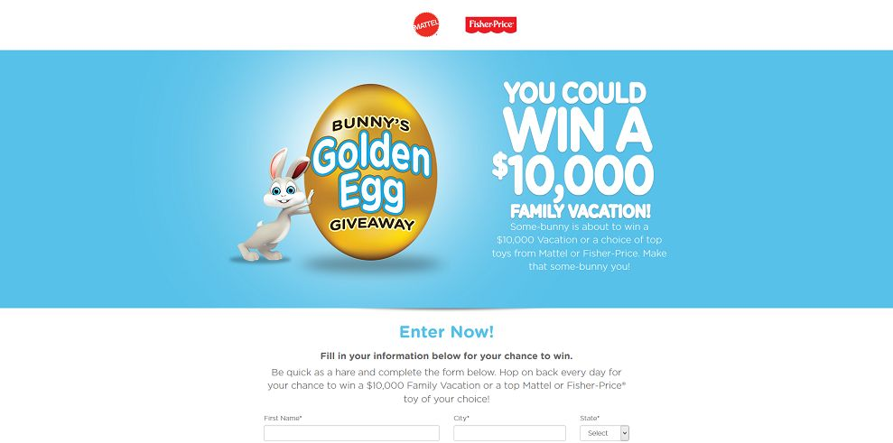 Bunny's Golden Egg Giveaway - goldeneggsweepstakes.com