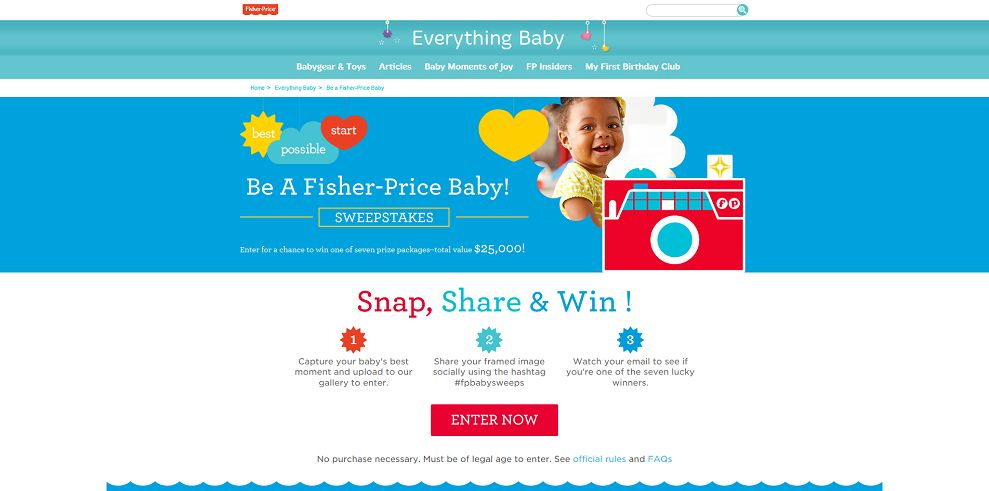 Be a Fisher-Price Baby! Sweepstakes