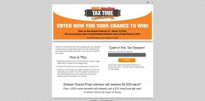 AutoZone 2015 Tax Time Giveaway - AutoZoneTaxTime.com